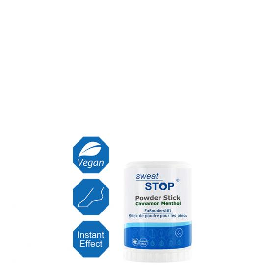 SweatStop® Foot Powder Stick With Cinnamon & Menthol for Dry Feet