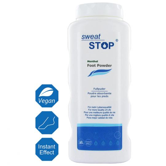 SweatStop® Menthol Foot Powder for a Dry and Comfortable Foot Climate